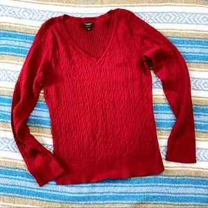 Talbots Red Knitted Sweater size L